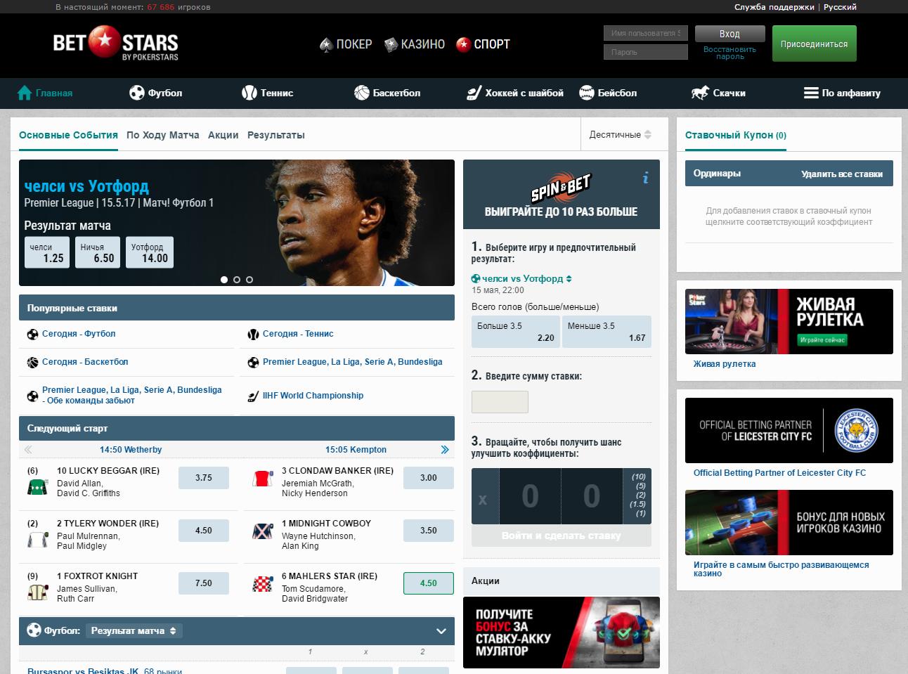 букмекерская контора Betstars сайт